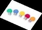 LED lampen (5 kleuren) 10stuks