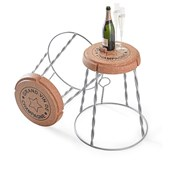 Giant Champagne Wire Cage Stool/Side table