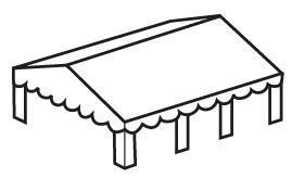 Dakzeil PVC 5x12m Blauw/Wit
